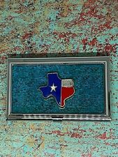 Texas Red White Blue Texas Charm Turquoise Silver Business Card Holder Western