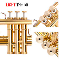 Yamaha Trumpet Trim Kit LIGHT Caps. KGUBrass. Raw Brass. TKLR105