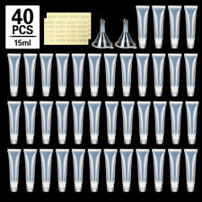 40pcs 15 ml Lip Gloss Tubes Clear Empty Containers Refillable Balm Soft Tube DIY