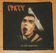 "CANCER ""TO THE GORY END"" silk screen PATCH"