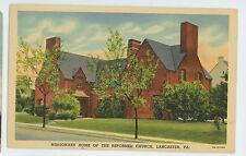 Missionary Home of the Reformed Church LANCASTER PA Vintage Pennsylvania Postcar