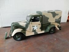 ARMY 1937 FORD TRUCK WITH CANOPY  1.24 DIECAST MODEL