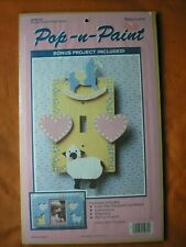 Pop N Paint Single Switch Plate & Picture Frame- Baby Land - New Sealed Kit