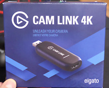 Elgato  Cam Link 4K  Black 10GAM9901 DSLR HD Camlink ~In Hand~ ~NEW~