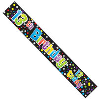 3 x 13TH 13 TEENAGER BIRTHDAY UNISEX FOIL BANNERS - PARTY DECORATION - 3FT EACH