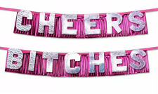 Bachelorette Hens Adult Night Party Cheers Bitches Novelty Decoration Banner