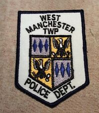 PA West Manchester Twp. Pennsylvania Police Patch