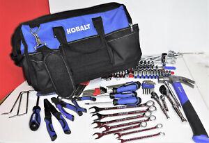 Kobalt Assorted 214 pcs + Soft Side Bag Hand Tool Kit Please See Listing - NICE!