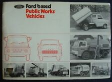 FORD PUBLIC WORKS VEHICLES SALES BROCHURE TRANSIT D SERIES REFUSE SWEEPERS MIXER