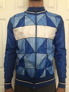 Vintage Wool Giordana Sammontana Bianchi Cycling Jacket Italian Designer Jersey