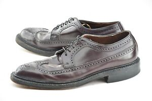 FRENCH SHRINER 10E #8 SHELL CORDOVAN VINTAGE LONGWING BLUCHER DRESS SHOES