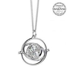 Harry Potter Sterling Silver Swarovski Necklace Time Turner Official Product