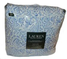 RALPH LAUREN Pondicherry Blue Floral 3P KING COMFORTER SET NEW COTTON