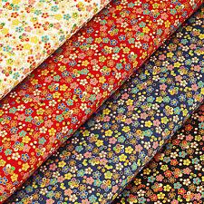 Japanese Cotton Fabric by FQ Daisy Ditsy Tiny Floral Retro Gold Print Dress VJ35