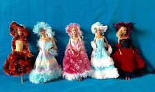 noel passion 5  robes de poupée barbie princesse faites  main Nice France