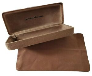 Two Tone Tan & Brown TOMMY BAHAMA Hard Clam Shell Eye/Sun Glasses Case, Flaw