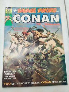 SAVAGE SWORD OF CONAN THE BARBARIAN #1 VF/NM BUSCEMA 3RD RED SONJA 1974