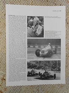 Clipping-Ritaglio AUTO PILOTA  LUIGI VILLORESI Maserati 4CL (cm.30x23)
