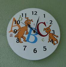 "Trend Lab Dr.Seuss 11"" Round Abc Nursery/Kids/ Bedroom Hanging Wall Clock"