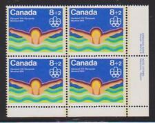 1975 Canada SC# B4 LR - Water Sports - Swimming - Plate Block M-NH Lot# BB 3d