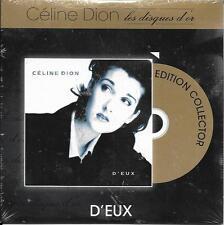 """CD CARTON CARDSLEEVE CÉLINE DION D'EUX 12T """"LES DISQUES D'OR"""" GOLDMAN FRANCE"""