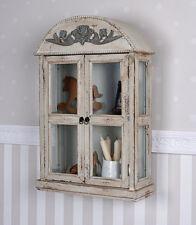 Parete vetrina shabby chic muro armadio vetrina antico sospesa VETRINA VINTAGE