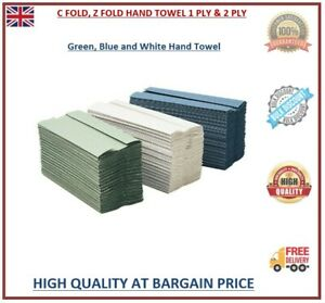 Paper Hand Towels C Fold Z Fold Tissues Multi Fold Premium Quality PACK 1,2 PLY
