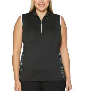 Callaway Womens Golf Sleeveless Size 1X Shirt Top Black NEW