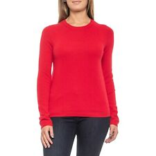NWT Tahari 100% Cashmere Sweater Crew Neck Womens XS Lava Red