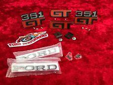 XA GT RPO Sedan Badge Kit Set Guard Fender Boot Bonnet Grille With Clips