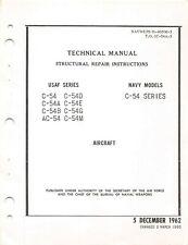 "C-54 ""Skymaster"" Structural Repair 1965 Aircraft Manual Flight Manual -Cd"