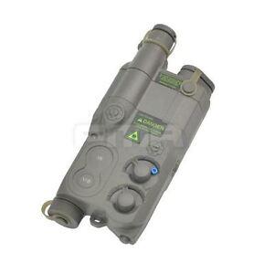 AIRSOFT DUMMY AN/PEQ16 BATTERY BOX CASE GREEN LIPO NIMH AEG RIS RAS RAIL PEQ 16