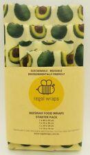 Beeswax Food Wraps   Eco Friendly   AVOCADO   Reusable Wrap - choose your size