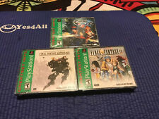 Chrono Cross + Final Fantasy Anthology & FF9 Greatest Hits PS1 NEW Read!