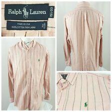 Ralph Lauren Dress Shirt Striped Long Sleeve Mens Size 15.5/33 USA Vintage (G)