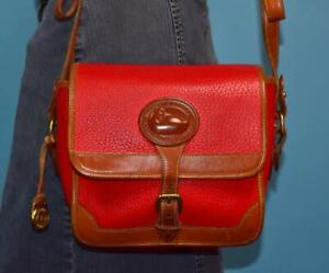 DOONEY & BOURKE SURREY Red Leather Small Carrier Tote Shoulder Purse Bag USA