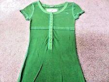 "A & F Ladies Short sleeve T Shirt XS 24"" Green Grade B BU904"