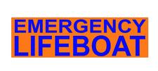 EMERGENCY LIFEBOAT BLUE Magnet Lifeboat RNLI Volunteer Emergency Service 300mm