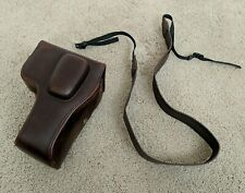 Coffee Brown Leather Camera Case for Nikon D3300/ D3400/ D3500 + 18-55mm lens