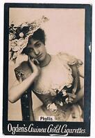Vintage Ogden's Guinea Gold Cigarettes Phyllis Tobacco Card