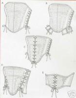 OOP Reversible Boned Corset PATTERN McCalls 4861 Renaissance Bodice 14 16 18 20