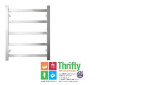 Forme Bathroom 5 Bar Heated Towel Rail HTR-TE0501M Square 600mm W x 680mm H