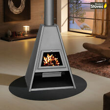 Wood Burning Multi Fuel Stove Contemporary Delta 16kw Wood Burner Log Burner