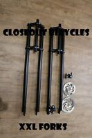"XXL 33"" TRIPLE TREE BICYCLE FORK 1"" Threadless Optional Disc Brakes Chopper"