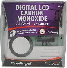 FireAngel Digital LCD Carbon Monoxide Alarm CO-9D - White
