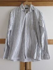 mens JAEGER COTTON STRIPED SHIRT SIZE SMALL