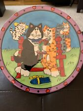 Catzilla Plate 2002 Candace Reiter Tuxedo Cat Orange Tabby Cat Couple Love