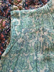 True Vintage 1970's Monsoon Indian Cotton/Gauze Dress Like Phool/Anokhi. Sz 10