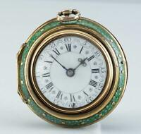 1768 Charles Newton 22K Gold Dreifach-Gehäuse Spindeluhr Shagreen-gehäuse Repous