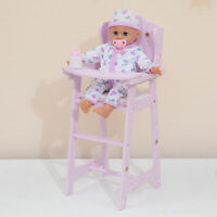 Olivias World Baby Doll Wooden Furniture High Chair Dolls Toy Play TD-0098AP